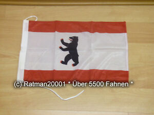 Fahnen Flagge Berlin Alt Bootsfahne Tischwimpel 30 x 45 cm