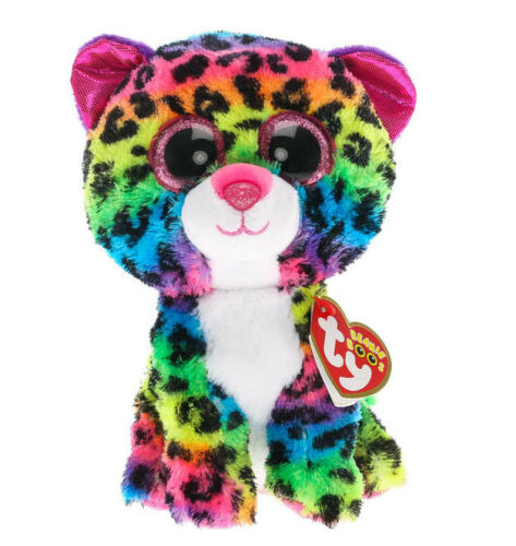 Ty Beanie Boos 6 DOTTY the Leopard Glitter Eyes Stuffed Animal Toy Plush MWMTs