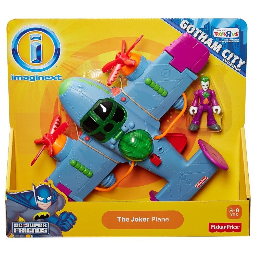 Toys IMAGINEXT The Joker Plane (Unique Toy) by Fisher Price