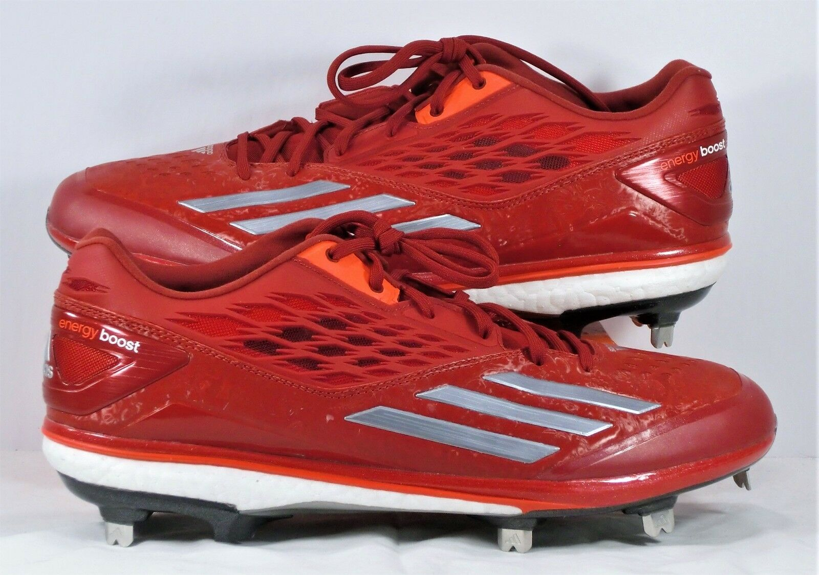 b9276ac8106 Adidas Energy Boost Icon Red   White Baseball Cleat Sz 12 NEW D74251 ...