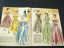 1950s GERMAN FASHION & SEWING PATTERN MAGAZINE - Vintage 50s ELEGANT ball gown