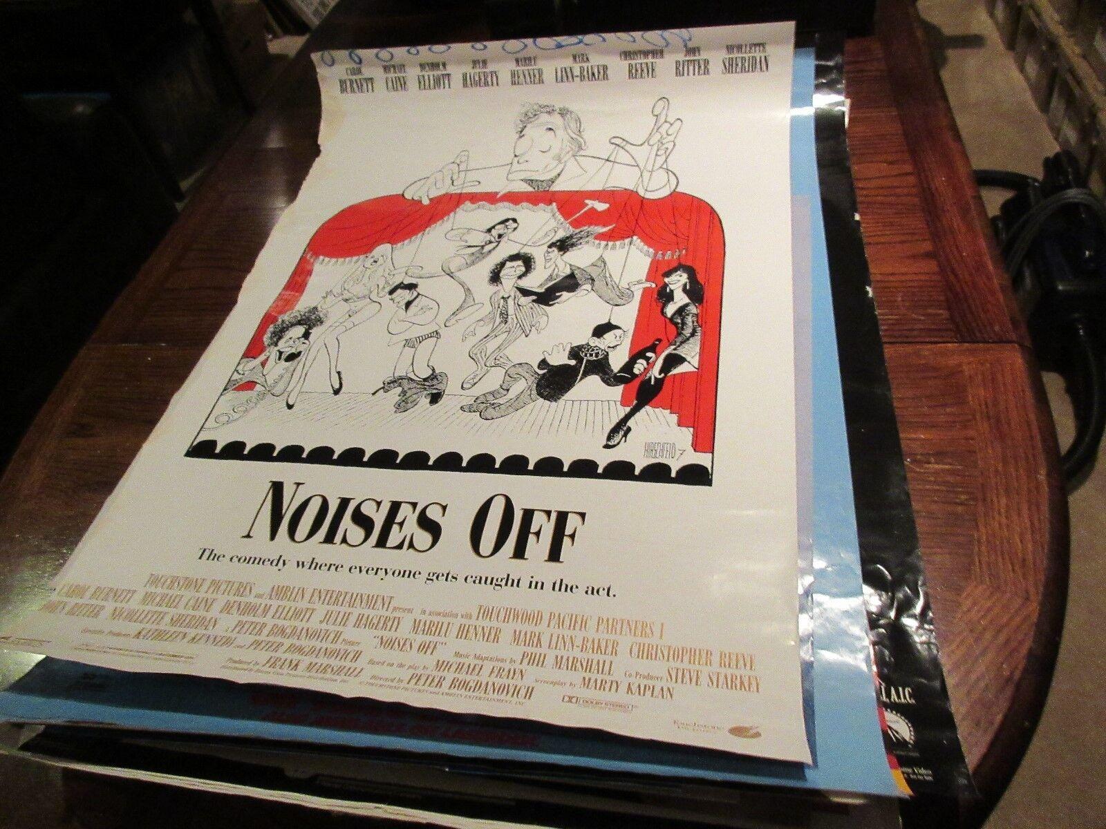 "Noises Off , POSTER , 27"" X 40"" , Carol Burnett , Micha"