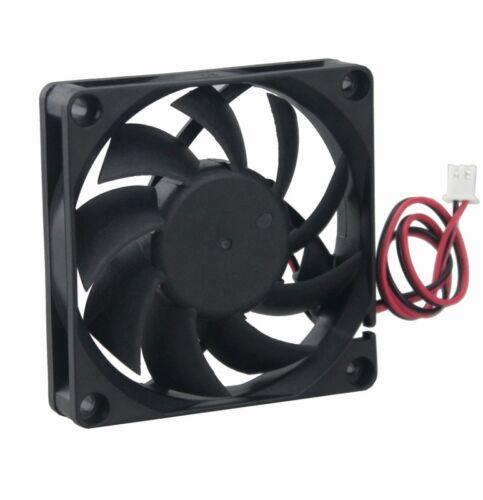 10pcs 24V 70x70x15mm 7cm 70mm 2Pin Brushless PC CPU Computer Case Cooling Fan