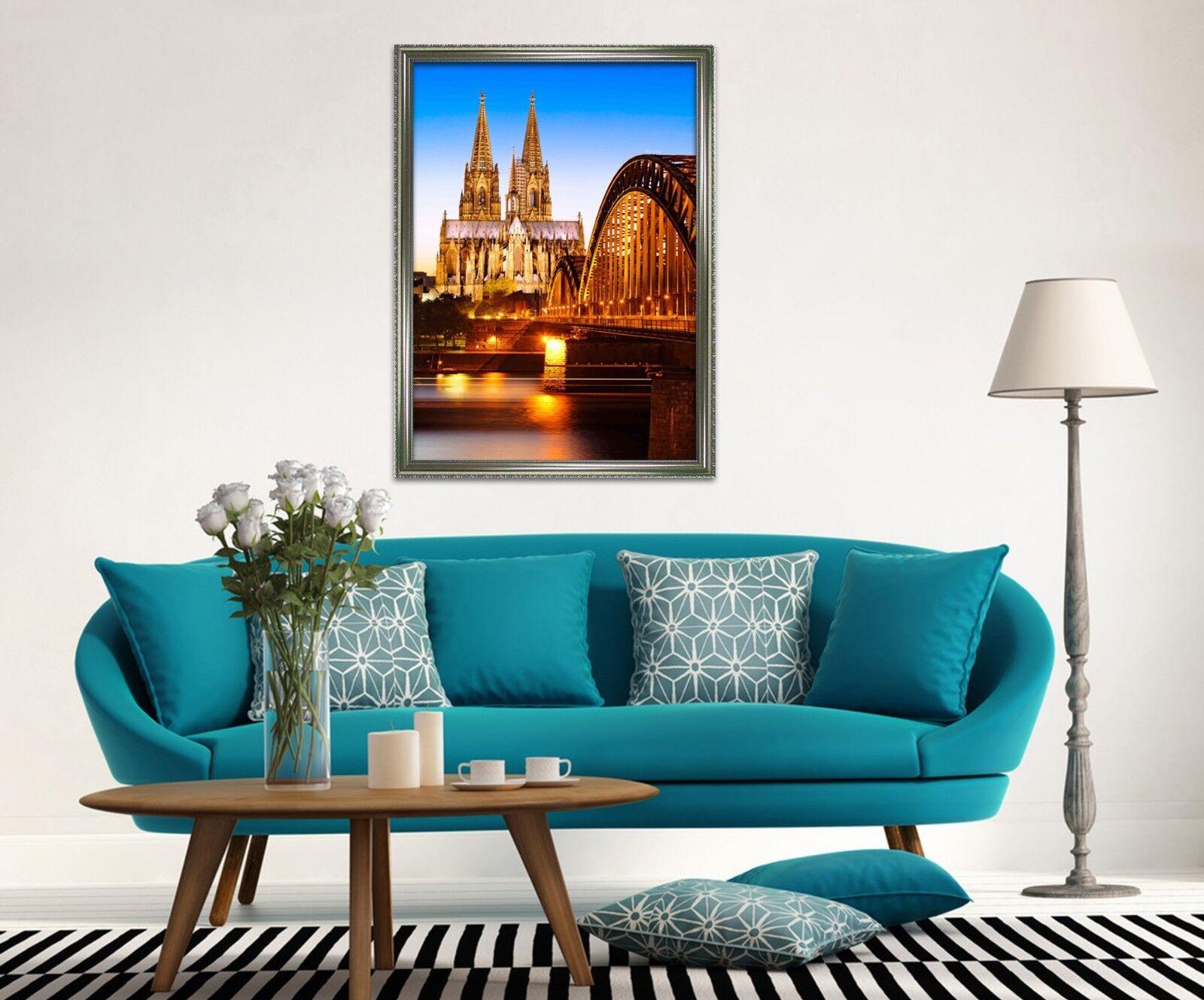 3D historia de la Iglesia Castillo 3 Póster Enmarcado Decoración del Hogar Pintura de Impresión Arte Wallpaper
