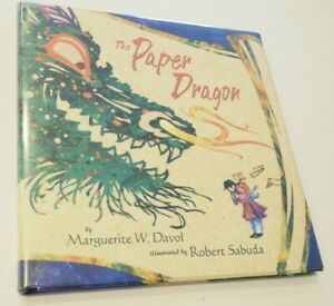 NEW Signed! Paper Dragon Illustrated by Robert Sabuda 1st Edition