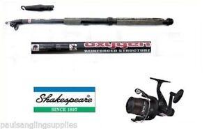 Shakespeare-Fishing-Reel-amp-Telescopic-Carbon-Tele-Travel-Fishing-Rod