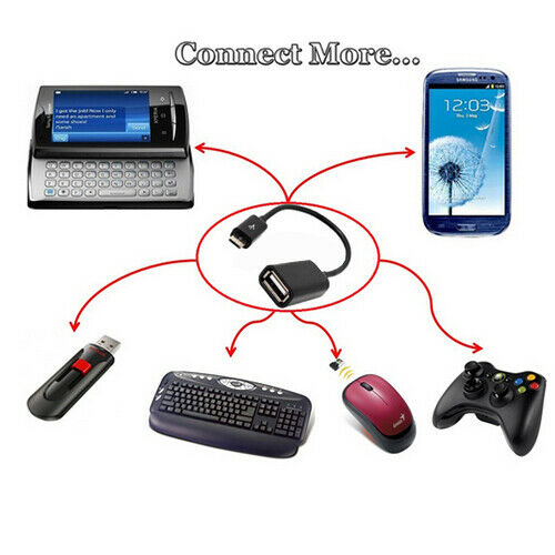 Micro USB Male OTG Cable Adapter For Samsung Android Phone Tablet PC Wholesale
