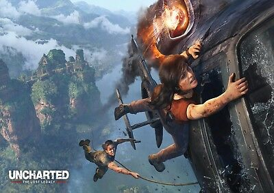 UNCHARTED THE LOST LEGACY GAME GLOSSY WALL ART POSTER A1 - A5 SIZES AVAILABLE