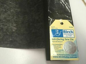 BIRCH Medium Weight Sew-on Interfacing - Black - 1 metre
