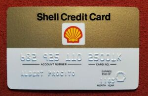 Shell Oil Vintage Credit Card Expired 1980 S Free Shipping Cc8a Ebay