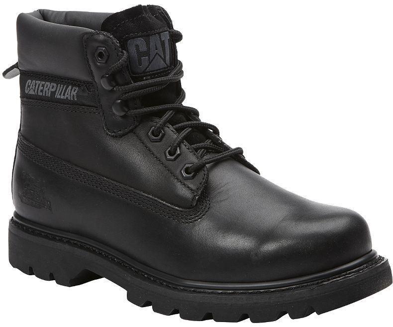 CAT Mens colorado Oiled Full Grain Leather Black Boots