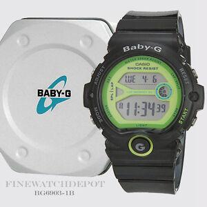 Details About Authentic Casio Baby G Women S Runner Jellies Black Digital Watch Bg6903 1b