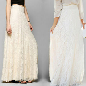 Women-Summer-High-Waisted-Boho-Maxi-Long-Tulle-Dress-Stretch-Pencil-Midi-Skirt