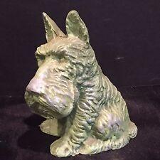 Antique Vintage Scottish Terrier Scottie Dog Aluminum Still Coin Bank