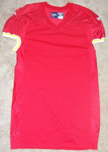 NFL GAME ISSUE Reebok Football Jersey. Blank, KC Chiefs - TACKLER, Size 46