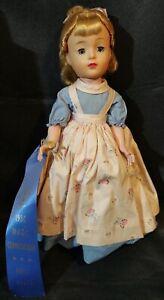 RARE-Vtg-1950-039-s-Madame-Alexander-Little-Women-AMY-14-Doll-1st-PLACE-Ribbon-MADC