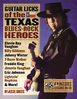 Guitar Licks Of The Texas Blues Rock Heroes Book Cd