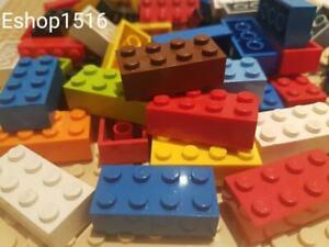 100 x LEGO 2X4 CLEAN BRICKS JOBLOT MIXED COLOURS