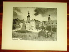 Pless Pszczyna Rathaus: alte Ansicht / Druck ca 1921