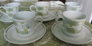 Royal-Doulton-Daisyfield-Tea-Cups-amp-saucers-Set-of-5-19-99-Post-Free-UK
