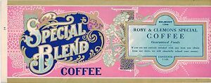 Image Is Loading TIN CAN LABEL VINTAGE COFFEE SPECIAL BLEND TYPOGRAPHY