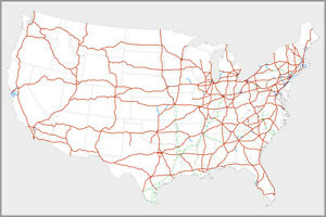 Details about Poster, Many Sizes; Map Of Us Interstate Highway System In  The United States Dwi