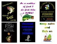 Iron On - Fishing - Transfers - You Choose