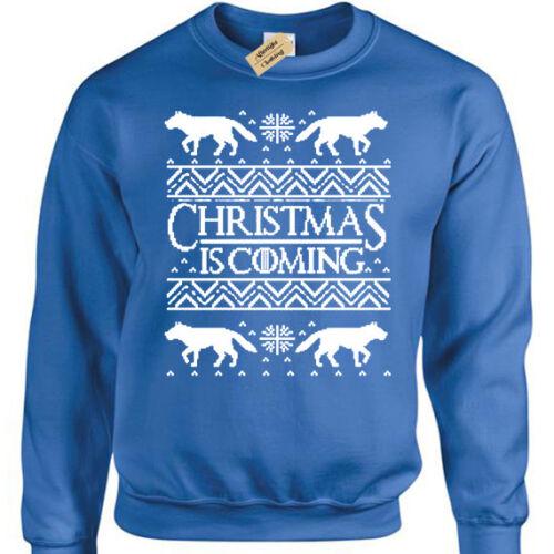 Noël Arrive Pull Homme Drôle Noël Thrones Hiver Sweat-shirt Cadeau Jeu