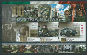 Mexico Hojas Yvert 86 MNH 100 Years Industry Military