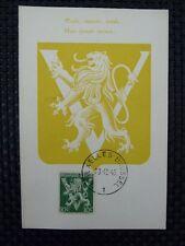 BELGIEN MK 1944 WAPPENLÖWE VICTORY MAXIMUMKARTE CARTE MAXIMUM CARD MC CM a6671