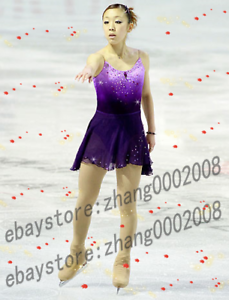 Stylish Ice Skating Dress.Purple Twirling Dance Competition Figure Skating Dress
