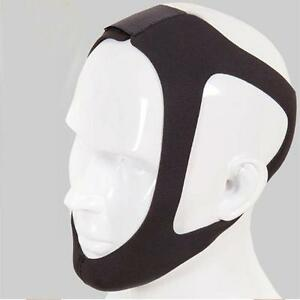 Black Anti Snoring Chin Strap Belt Stop Snore Device Apnea Jaw Support Solution 6263943436495