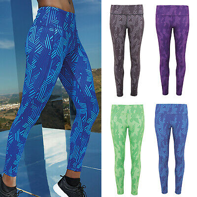 Tridri Women's Performance Crossline Full-length Leggings Yoga Fitness tr035
