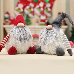 Handmade-Swedish-Christmas-Santa-Claus-Decoration-Plush-Xmas-Funny-Gnome-Doll