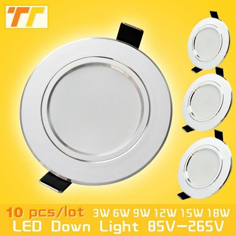 10 pcs lot led downlight lamp 3w 5w 7W 9w 12w 15w 18w 230V 110V ceiling recessed