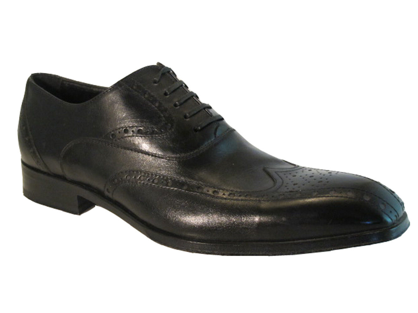 Men's 10158 Doucal's Italian Designer lace up wingtip Brown and Black