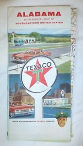 Details about 1961 Alabama and Southern states foldout road map by Texaco  Gas