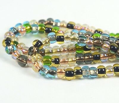 "Czech Glass Seed Beads Size 6//0 /"" COPPER LINED CRYSTAL /"" Strands"