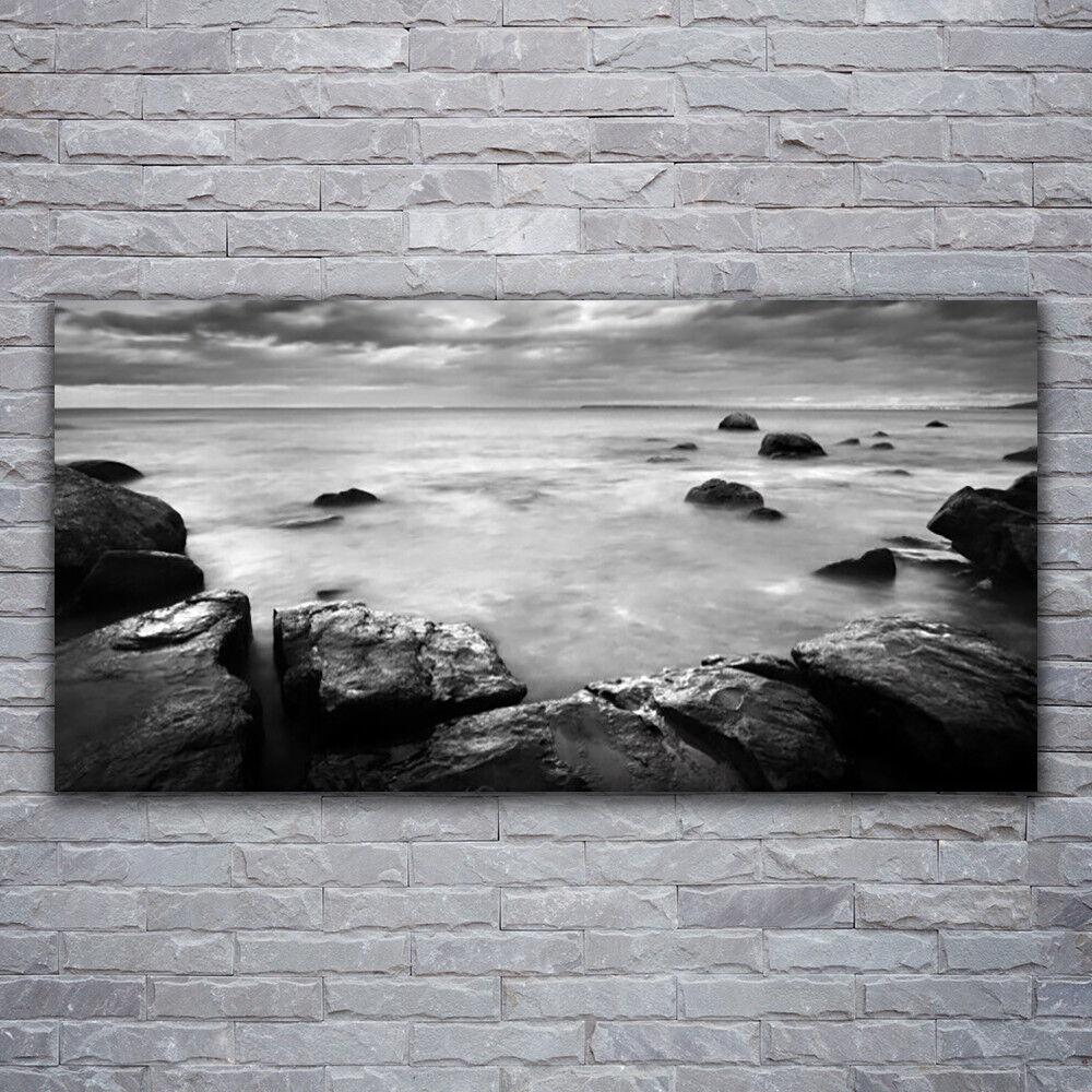 Wandbilder Glasbilder Druck auf Glas 120x60 Felsen Meer Landschaft