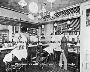 Old-Antique-Barber-Shop-Hair-Cut-Hot-Razor-Shave-Cash-Register-Photo-Picture