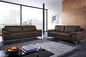echt leder sofa monza couch garnitur 2er oder 2 5 sitzer oder 3er 3 sitzer neu ebay. Black Bedroom Furniture Sets. Home Design Ideas