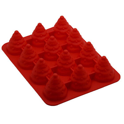Christmas Tree Silicone Fondant Cake Mold Soap Chocolate Candy Decorating Mould