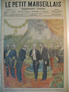 TOISON-D-039-OR-AU-Pdt-DE-LA-REPUBLIQUE-LE-SALUT-MILITAIRE-LE-PETIT-MARSEILLAIS-1898