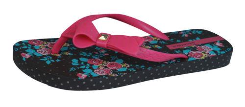 Sandals 81563 Brown Pink Ipanema Pretty Bow Womens Flip Flops