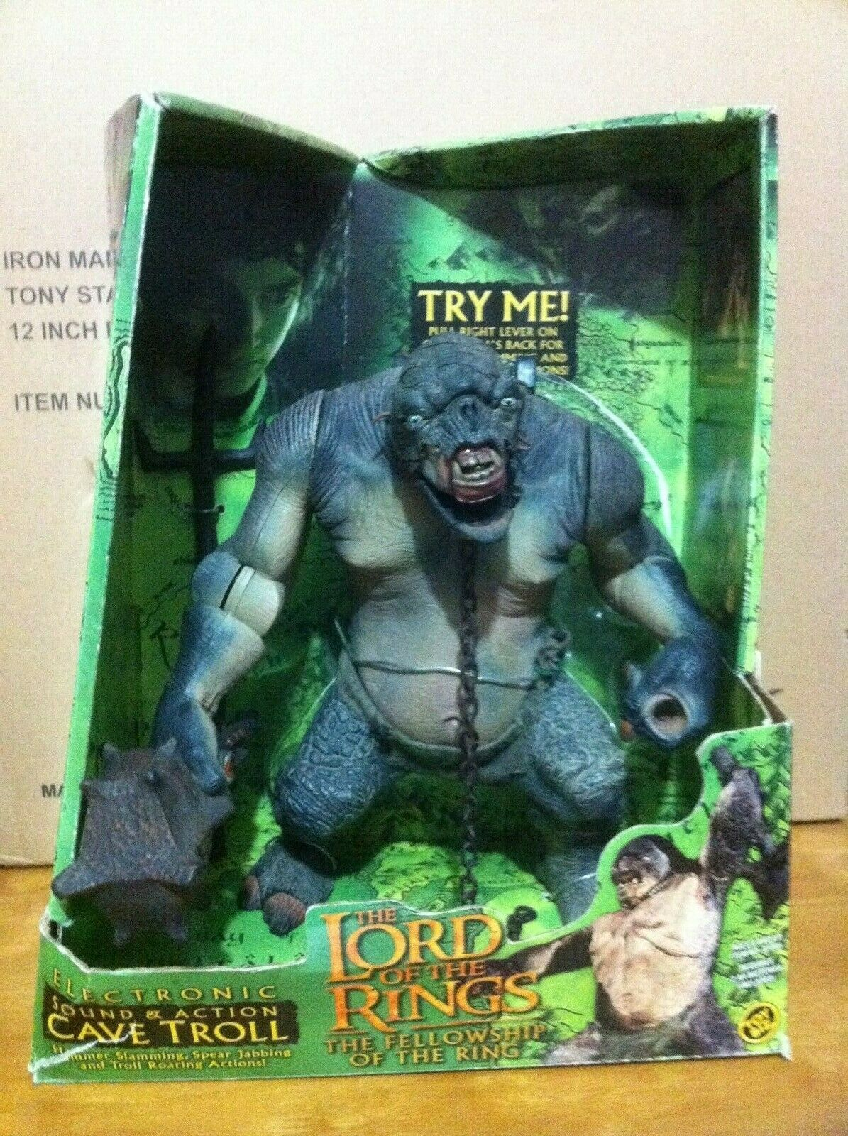 Electronic Sound & Action Cave Troll - Toy Biz - (Face with battle damage )  )