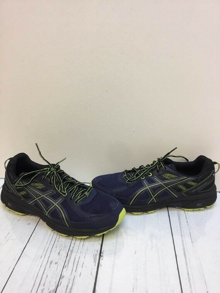 Asics Gel-Venture 6 Navy Synthetic Lace Up Low Top Running shoes Men's Size 12