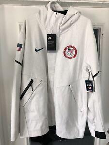 Details about Nike Tech Fleece Windrunner Team USA Jacket Olympics Men's Sz Xl 909530 100