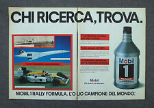 G703 - Advertising Pubblicità - 1987 - MOBIL 1 RALLY FORMULA  LUBRIFICANTE