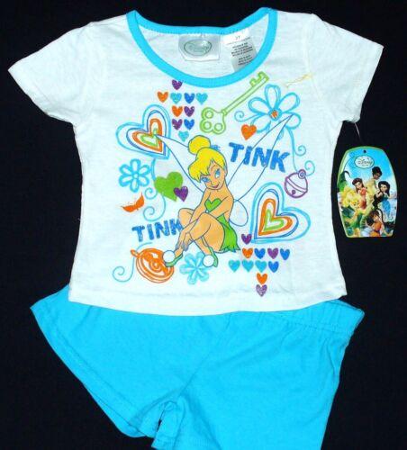 DISNEY TINKER BELL Shirt /& Shorts Set Outfit NWT $24
