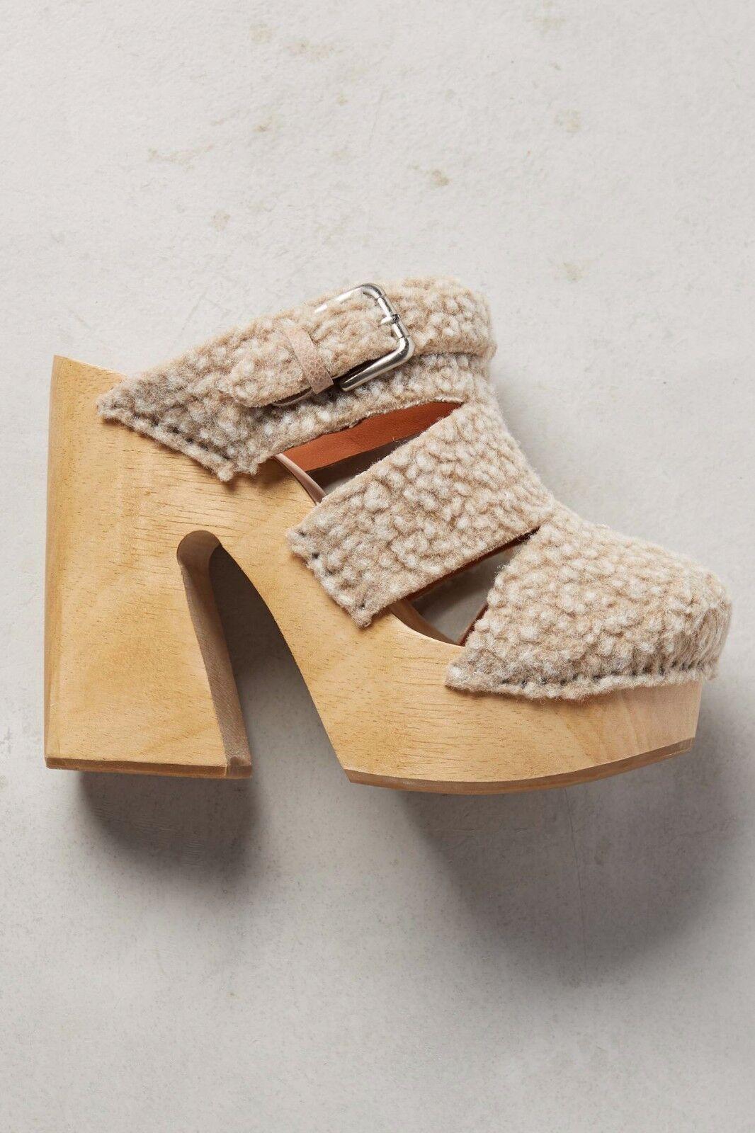 Anthropologie fiero Zuecos Rachel Rachel Zuecos Comey Zapatos 9.5 Nuevo  575 natural mula Tacones 3c2c63
